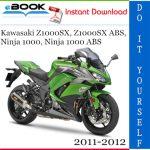 Kawasaki Z1000SX, Z1000SX ABS, Ninja 1000, Ninja 1000 ABS Motorcycle Service Repair Manual