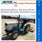 Mitsubishi MT160, MT160D, MT180, MT180D, MT180H, MT180HD Trator Service Repair Manual