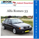 Alfa Romeo 33 Service Repair Manual