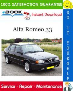 Alfa Romeo 33 Service Repair Manual