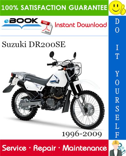 Suzuki Dr200se Motorcycle Service Repair Manual 1996