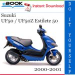 Suzuki UF50 / UF50Z Estilete 50 Scooter Service Repair Manual