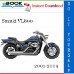 Suzuki VL800 Motorcycle Service Repair Manual