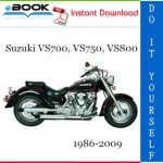 Suzuki VS700, VS750, VS800 Motorcycle Service Repair Manual