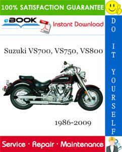 Suzuki VS700, VS750, VS800 Motorcycle Service Repair Manual