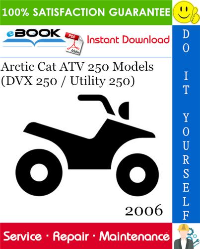 2006 Arctic Cat Atv 250 Models  Dvx 250    Utility 250
