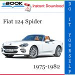 Fiat 124 Spider Service Repair Manual