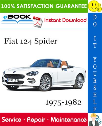 Fiat 124 Spider Service Repair Manual 1975
