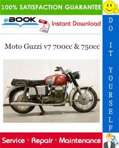 Moto Guzzi v7 700cc & 750cc Motorcycle Service Repair Manual