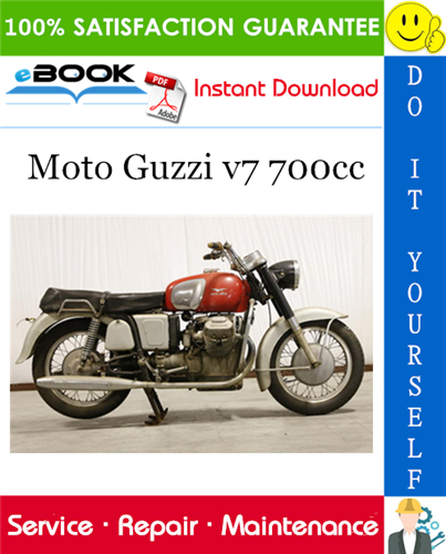 Moto Guzzi V7 700cc Motorcycle Service Repair Manual