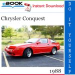 1988 Chrysler Conquest Service Repair Manual