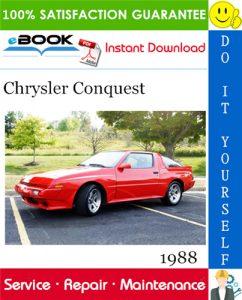 1988 Chrysler Conquest Service Repair Manual