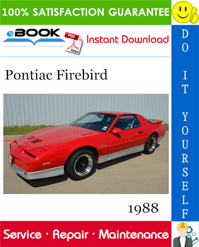1988 Pontiac Firebird Service Repair Manual