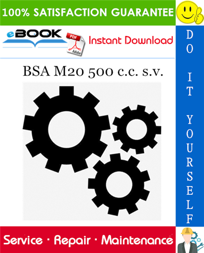 BSA M20 500 c.c. s.v. Service Repair Manual