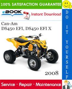 2008 Can-Am DS450 EFI, DS450 EFI X ATV Service Repair Manual