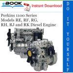 Perkins 1100 Series Models RE, RF, RG, RH, RJ and RK Diesel Engine Service Repair Manual