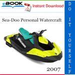 2007 Sea-Doo Personal Watercraft Service Repair Manual