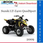 2009 Suzuki LT-Z400 QuadSport ATV Service Repair Manual