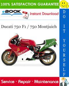 Ducati 750 F1 / 750 Montjuich Motorcycle Service Repair Manual