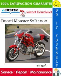 2006 Ducati Monster S2R 1000 Motorcycle Service Repair Manual