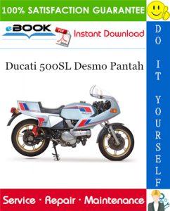 Ducati 500SL Desmo Pantah Motorcycle Service Repair Manual