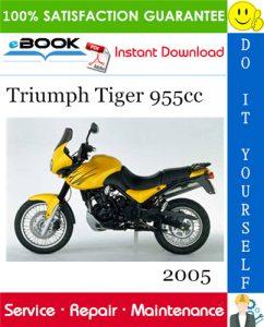 2005 Triumph Tiger 955cc Motorcycle Service Repair Manual