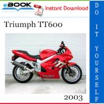 2003 Triumph TT600 Motorcycle Service Repair Manual