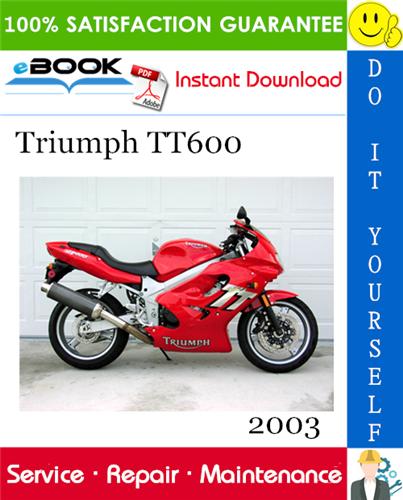 2003 Triumph Tt600 Motorcycle Service Repair Manual