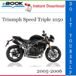 Triumph Speed Triple 1050 Motorcycle Service Repair Manual