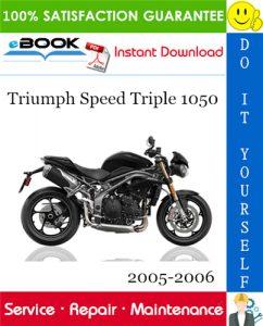 Triumph Speed Triple 1050 Motorcycle Service Repair Manual