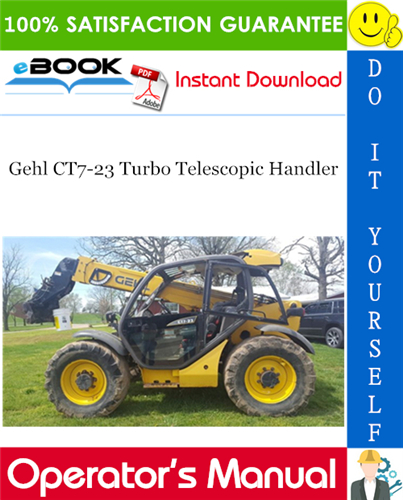 Gehl CT7-23 Turbo Telescopic Handler Operator's Manual
