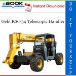 Gehl RS6-34 Telescopic Handler Parts Manual #2