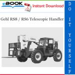 Gehl RS8 / RS6 Telescopic Handler Operator's Manual