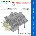 O.H.V & Side Valve Models Engine Service Repair Manual