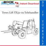 Terex Lift TX51-19 Telehandler Parts Manual