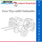 Terex TX51-19MD Telehandler Parts Manual (From serial No. 657769)
