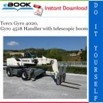 Terex Gyro 4020, Gyro 4518 Handler with telescopic boom Service Repair Manual