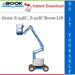Genie Z-34IC, Z-22IC Boom Lift Service Repair Manual (from serial number 3242 to 4799)