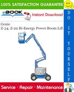 Genie Z-34, Z-22 Bi-Energy Power Boom Lift Service Repair Manual (before serial number 4800)