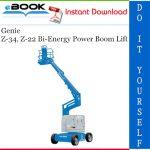 Genie Z-34, Z-22 Bi-Energy Power Boom Lift Service Repair Manual
