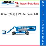 Genie ZX-135, ZX-70 Boom Lift Service Repair Manual (Serial Number Range: from ZX13513-2001)