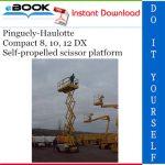 Pinguely-Haulotte Compact 8, 10, 12 DX Self-propelled scissor platform