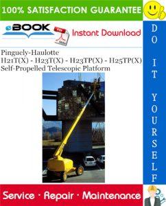 Pinguely-Haulotte H21T(X) - H23T(X) - H23TP(X) - H25TP(X) Self-Propelled Telescopic Platform
