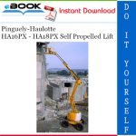 Pinguely-Haulotte HA16PX - HA18PX Self Propelled Lift Service Repair Manual