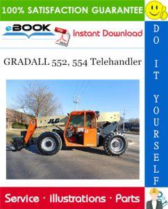 GRADALL 552, 554 Telehandler Parts Manual (P/N - 9020-5894)
