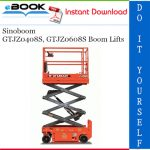 Sinoboom GTJZ0408S, GTJZ0608S Boom Lifts Operation & Maintenance Manual