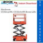 Sinoboom GTJZ0408S, GTJZ0608S Boom Lifts Parts Manual