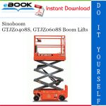 Sinoboom GTJZ0408S, GTJZ0608S Boom Lifts Service Repair Manual