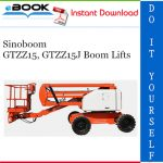 Sinoboom GTZZ15, GTZZ15J Boom Lifts Operation & Maintenance Manual