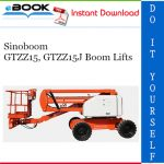 Sinoboom GTZZ15, GTZZ15J Boom Lifts Service Repair Manual